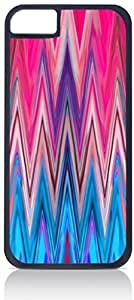 Pink and Blue Fusion Chevrons- For Iphone 6 Phone Case Cover Universal-Hard Black Plastic Outer Shell with Inner Soft Black Hard Lining-(NOT 5C)