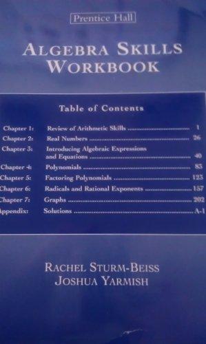 Algebra Skills Workbook