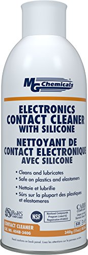 Aerosol Chemical (MG Chemicals Contact Cleaner with Electronic Grade Silicones, 340g (12 Oz) Aerosol Can)