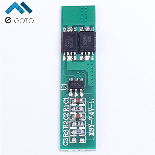7.4V 2S Polymer Lithium Battery Protection Board 2 Serial Short Circuit Protection Li-ion Charge Module BMS PCM ion ()