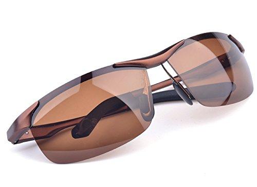 Turístico de sol Gafas Coffee de gafas de gafas hombre aluminio para N1 TIANLIANG04 negro N4 Gafas sol hombre Guía hombre 1xwZRqpF