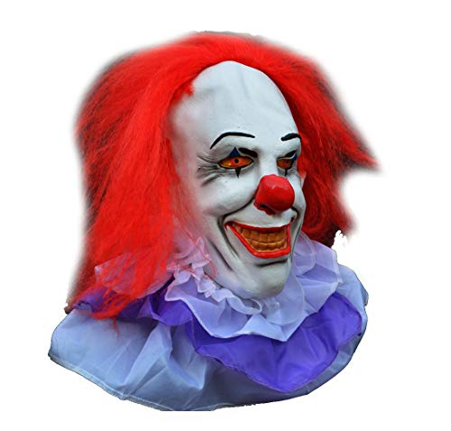 Acid Tactical Scary Creepy Halloween Clown Evil Latex Mask - Classic Pennywise Clown -