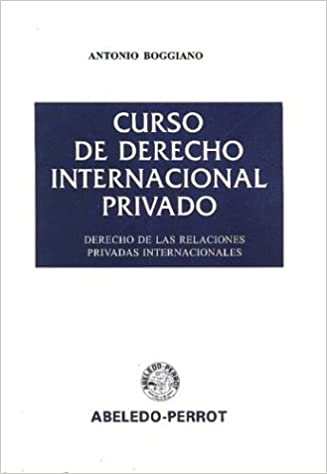 curso de derecho internacional privado antonio boggiano