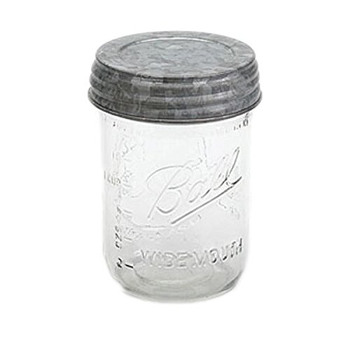 Gray Zinc Mason Jar Lid - 3.5in. - Set Of 3