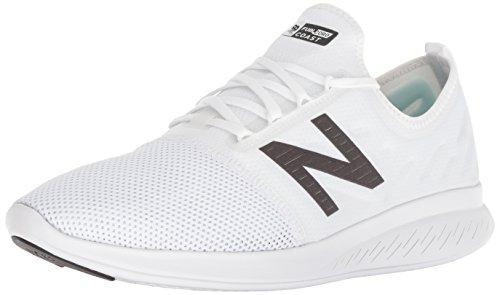New Balance Men's Coast V4 FuelCore Running Shoe, White/Black, 11.5 4E US