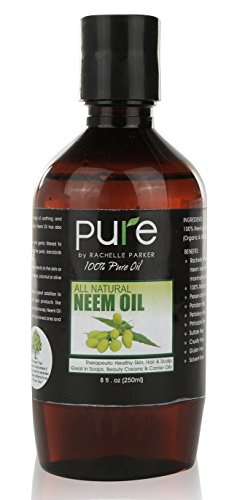 Organic Neem Oil Organic & Wild Crafted Pure Cold Pressed Unrefined Cosmetic Grade 8 oz for Skincare & Hair Care or Carrier Oil