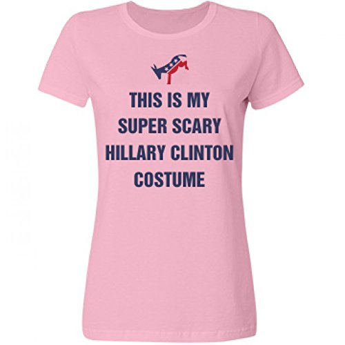 [Political Hillary Halloween Costume: Misses Relaxed Fruit of the Loom T-Shirt] (Miss America Costume 2016)