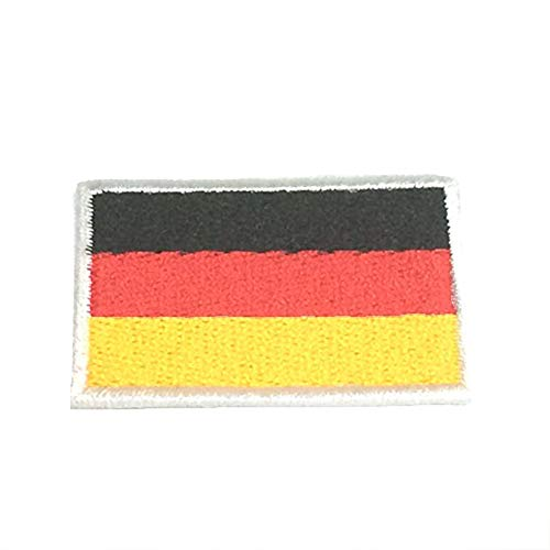 Germany World Countries Flags Iron On Patches 2x3 cm Backpack Size Embroidered Applique -