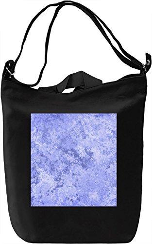 Light Blue Print Borsa Giornaliera Canvas Canvas Day Bag| 100% Premium Cotton Canvas| DTG Printing|