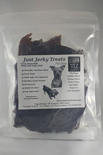 - All Natural Beef Jerky Dog Treats - 8oz - Made in Usa. No Chemicals or Fillers