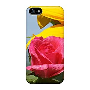 Durable A Sunflower A Rose All In One Back Case/cover For Iphone 5/5s
