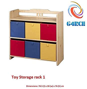 g4rce childrens kids 3 tier toy bedroom storage shelf unit rack 6 rh amazon co uk IKEA Storage Units Home Shelving Units