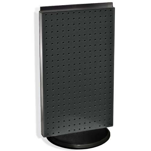 Azar 700513-BLK Pegboard Two-Sided Counter Display, Black Solid Pegboard