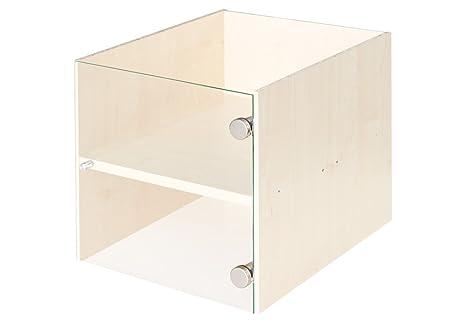 Ripiani In Legno Ikea : Vetrina inserto con porta in vetro per ikea scaffale betulla con