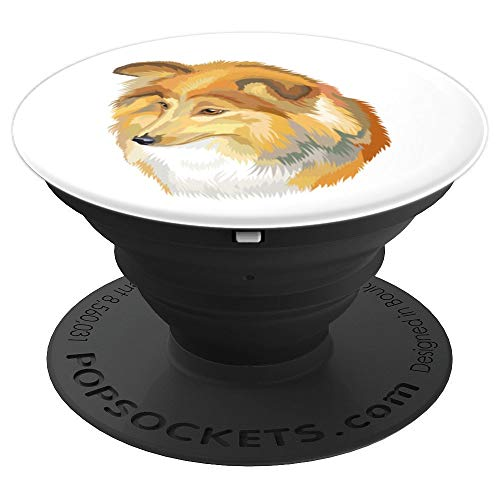 Sheltie Portrait Pop. Dogs Lover Gifts - PopSockets Grip and Stand for Phones and Tablets]()