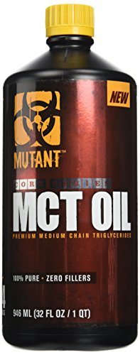 Mutant MCT Oil – Better Than Regular Coconut Oil MCT OIL - Has No Trans-Fat And Is Specially Extracted From Coconut Oil To Provide 6x More Mcts Than Plain Coconut Oil – 946ML (Coconut Trans Fat)
