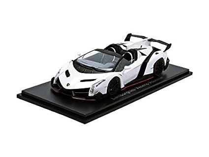 Amazon Com Kyosho 1 43 Scale Lamborghini Veneno Roadster Car White