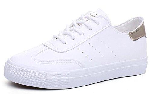 Aisun Lacci Skateboard Da A Donna Basse Con Bassa 2 Bianco Vita Sneakers rqaUrwF