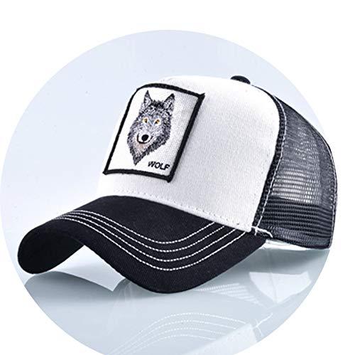 帽子 男性 夏の通気性メッシュ野球帽 女性 刺繍ヒップホップ カセットボーイズ,白,56-60cm