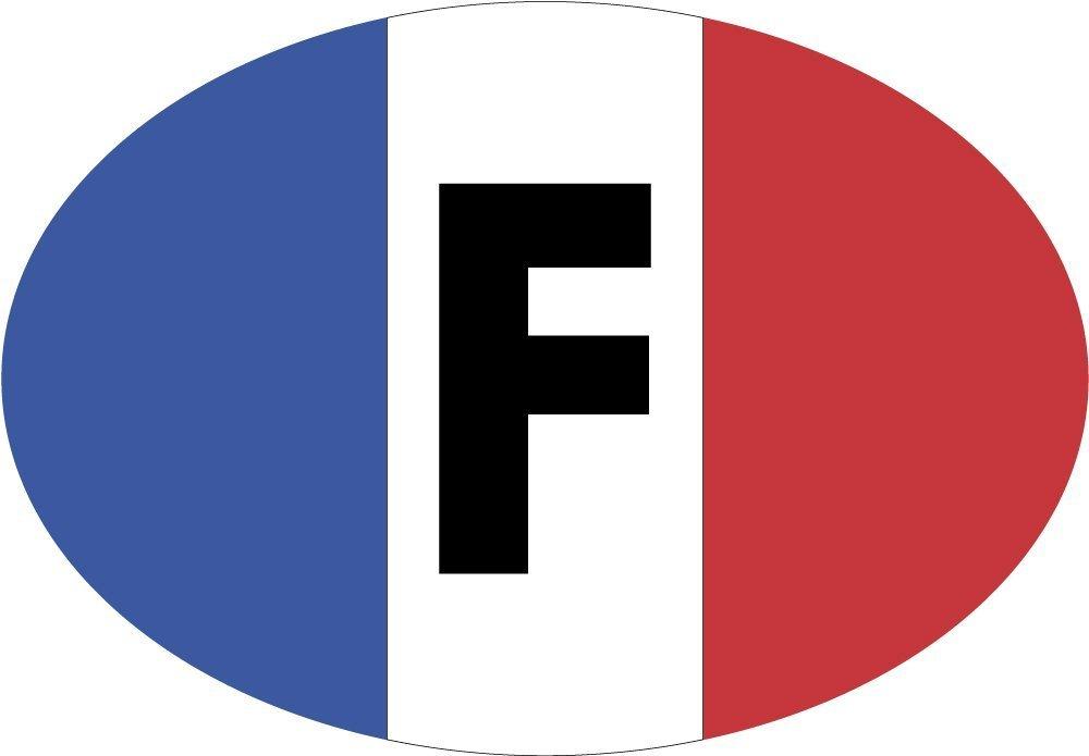 Autocollant Oval drapeau France 80x60 mm. Ediciones Imagina S.L.