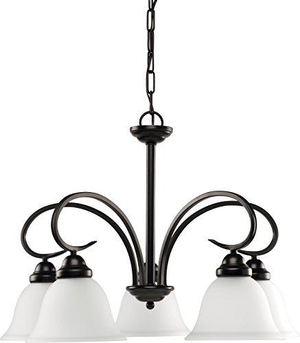 HomeStyle HS47004-125 Five Light Chandelier(CFL with Bulb Included) in Bronze