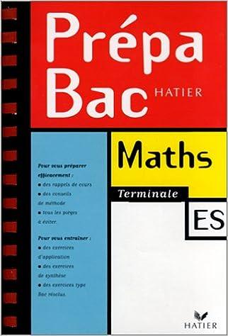 Livres Prépabac mathématiques, terminale ES pdf epub