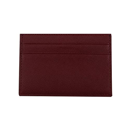 10e210fc7ceb Amazon.com: Classic Business Saffiano Split Leather Credit Card Holder  Limited Edition Customed Initial letters ID Card Case Card Wallet: Clothing