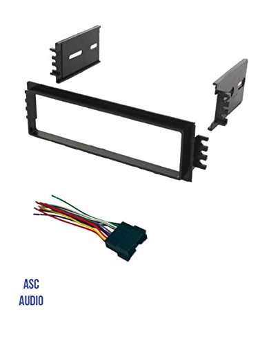 ASC Car Stereo Radio Dash Install Kit and Wire Harness for installing a Single Din Aftermarket Radio for 2002 2003 2004 2005 Hyundai Accent - Hyundai Accent Aftermarket