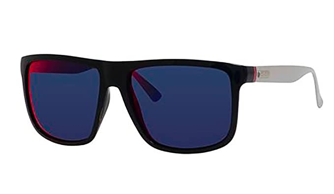 a766f8b8f18 Image Unavailable. Image not available for. Color  Gucci Men s GG 1075 S  Blue Palladium Gray Infrared Sunglasses