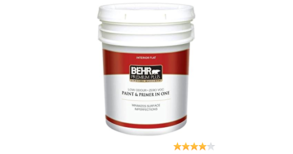 1 5 Gal Ultra Pure White Zero Voc Flat Interior Paint