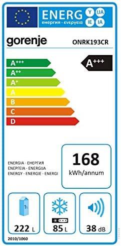 freistehend 307 l A+++ Kupfer 307 l, SN-T, 8 kg//24 h, A+++, Einteilung, Kupfer Gorenje ONRK193CR K/ühl-Gefrier-Kombination