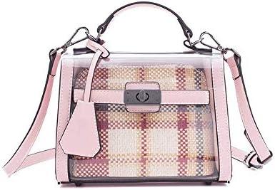 ファッションの市松ワイルドバッグ、大容量の耐摩耗リベットパーソナリティクリエイティブシングルショルダーポータブルメッセンジャーバッグ(17 * 21センチメートル) (Color : C)