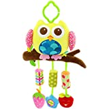 SKK Baby Clip on Hanging Activity Toy with Rattle Wind Chims