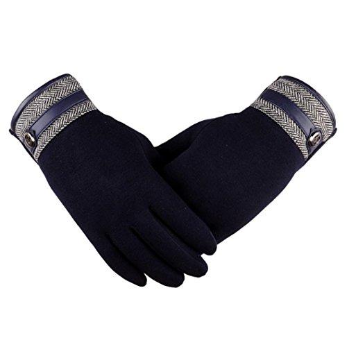 AIMTOPPY Fashion Men Thermal Winter Motorcycle Ski Snow Snowboard Gloves (Black, free)