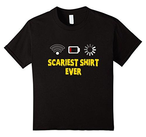 Kids Cool Scariest Shirt Ever T-shirt Halloween Costume T shirt 12 Black (Scariest Girl Costumes)
