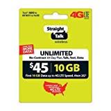 #5: Straight Talk Rob Refill Card 30 Day $45 Prepaid Unlimited Service Plan Phone