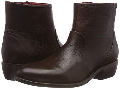 Marrone Brush Buffalo 00 Stivaletti Leather Verona 01 brown Donna xXnUHCn