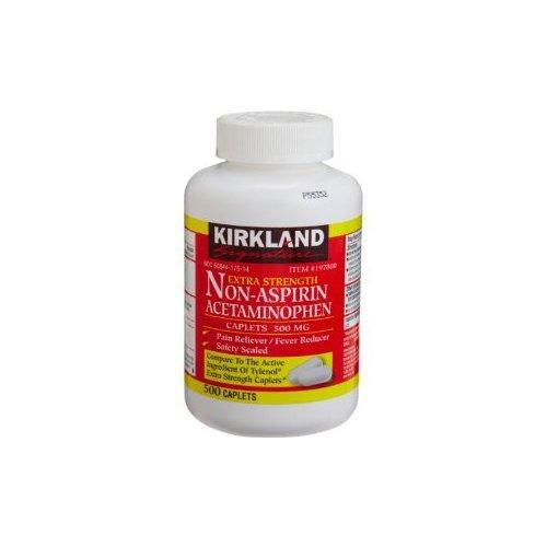 Kirkland Signature Extra Strength Non-Aspirin Acetaminophen 500mg 500-count (Pack of 6)