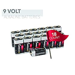 IMPECCA 9 Volt Batteries 18 Count High Performance 9V Alkaline Batteries Long Lasting in Storage 6LR61 18 Pack