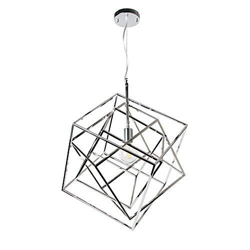 Chrome Cage Pendant Light
