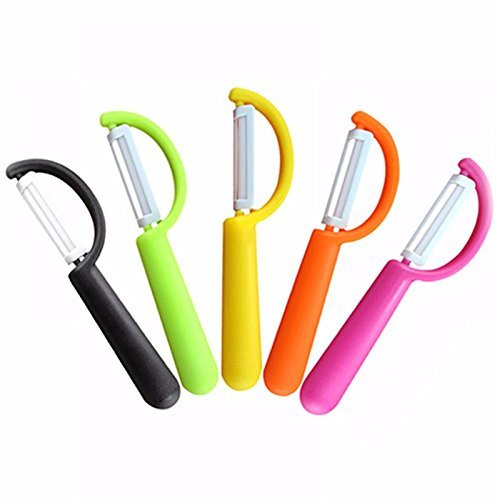 Freeze Blade Costume (High-Season Durable Ultra Sharp Fruit Apple Potato Vegetable Ceramic Peeler Soft Grip 1pc Color: Randomly sent)