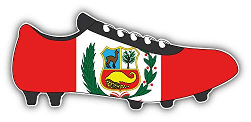 KW Vinyl Peru Flag Soccer Cleats Truck Car Window Bumper Sticker Decal 5