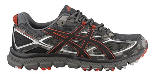 ASICS Men's Gel-Scram 3 Running Shoe, Dark Grey/Black/Red Clay, 11 Medium US