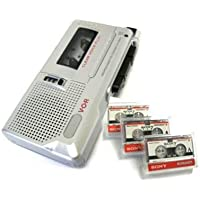 Sony Microcassette Recorder M-560V Handheld Voice Recorder With 3 New Microcassettes