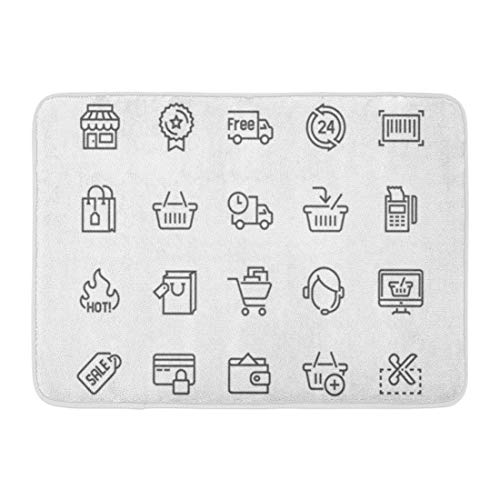 Emvency Bath Mat Simple Shopping Related Line Contains Such As Delivery Bag Sale Wallet Online Support More Stroke Bathroom Decor Rug 16