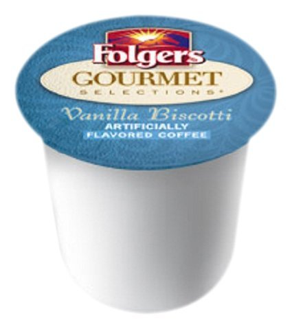 Folgers Gourmet Selections Vanilla Biscotti Coffee K-cups 18 Count