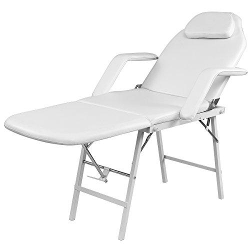 Lit cosmétique Table de massage table de traitement pliante blanc