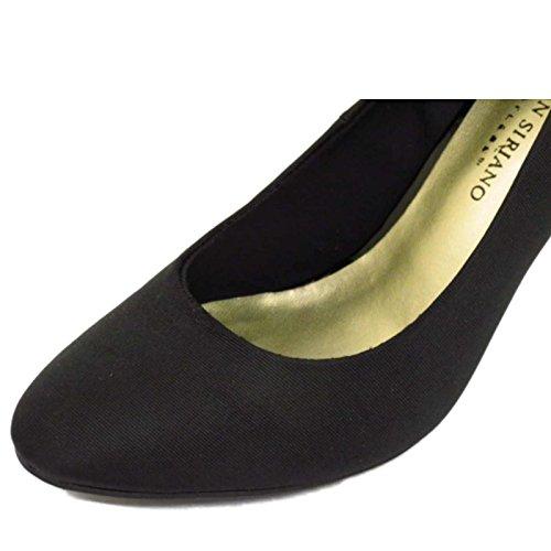 Damen Schwarz zum Reinschlüpfen Low Mittelhoher Absatz Arbeit Freizeit Hof Smart Schuhe Größen 3-9