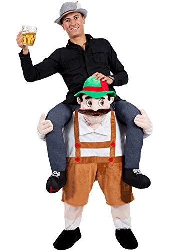 Emmarry costumes Piggyback Ride On Riding Shoulder Adult Costume Bavarian Brewery Guys Bindsurger Pants Oktoberfest Animal Bindspeaker Pants-One Size (Expedited Delivery Ship by (Costumes Oktoberfest)