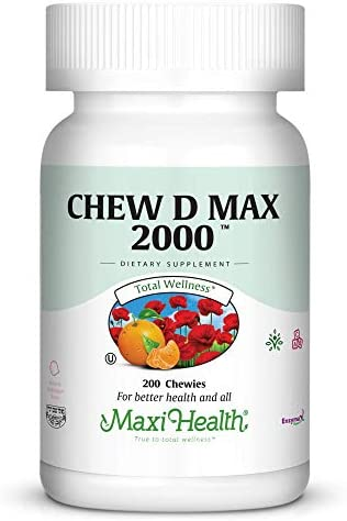 Maxi Health Chew D Max 2000, 200 Count